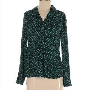 Dana Buckman utility blouse green s nwt